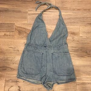 b51e12db1750 Free People Shorts - Free People Blossoming Chambray Romper